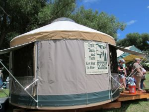 They call it a yurt, but, given the space on the inside, it might have been a TARDIS.